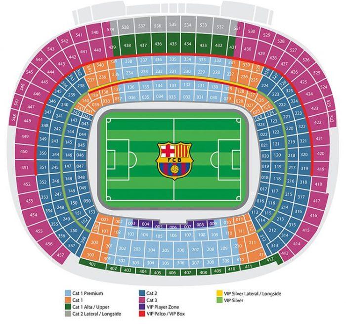 Barcelona stadion seteplasser