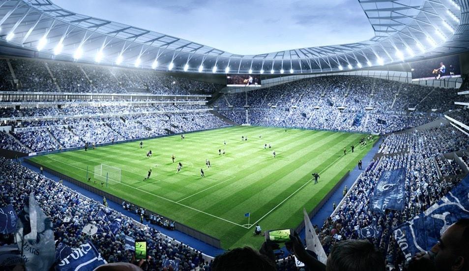 Fotballreiser Tottenham fra tribune