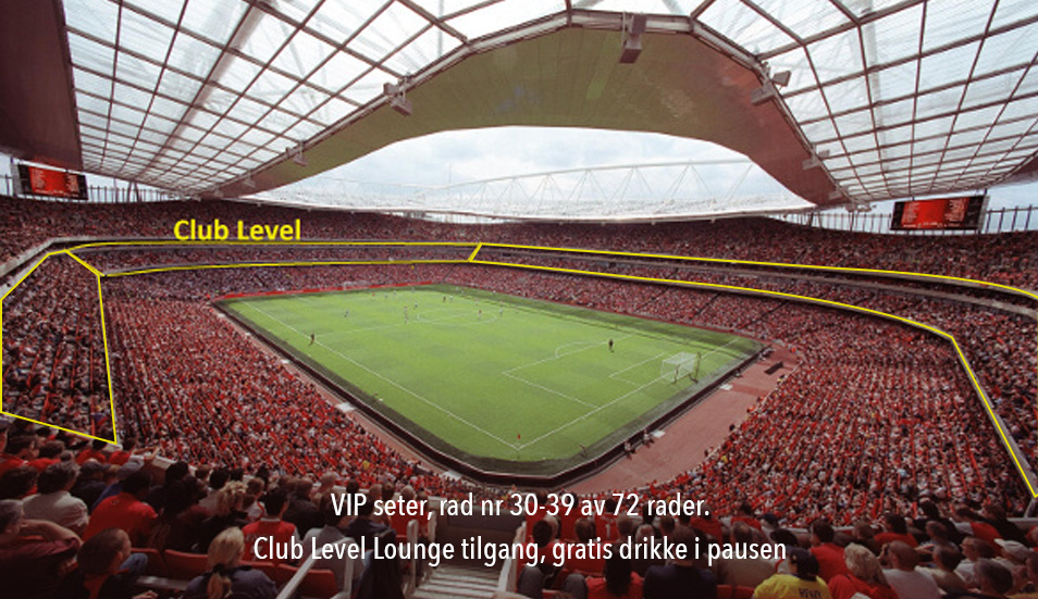 Arsenal VIP billett -Club level