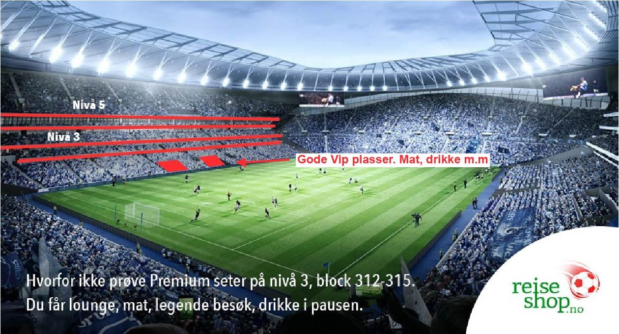 Fotballtur Tottenham VIP billett